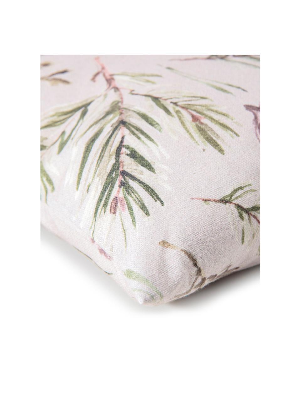 Dwustronna poszewka na poduszkę Tanne, Bawełna, Odcienie szarego, odcienie zielonego, S 50 x D 50 cm