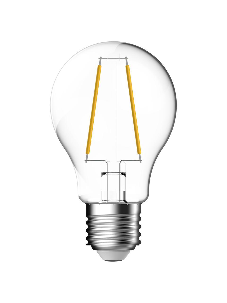 E27 Leuchtmittel, 7W, warmweiß, 6 Stück, Leuchtmittelschirm: Glas, Leuchtmittelfassung: Aluminium, Transparent, Ø 6 x H 10 cm