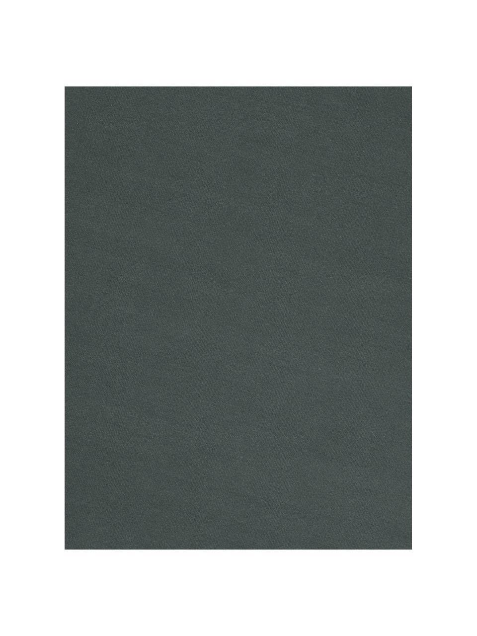 Handgewebter Kelimteppich Rainbow aus Wolle in Dunkelgrün mit Fransenabschluss, Fransen: 100% Baumwolle Bei Wollte, Grün, B 200 x L 300 cm (Größe L)