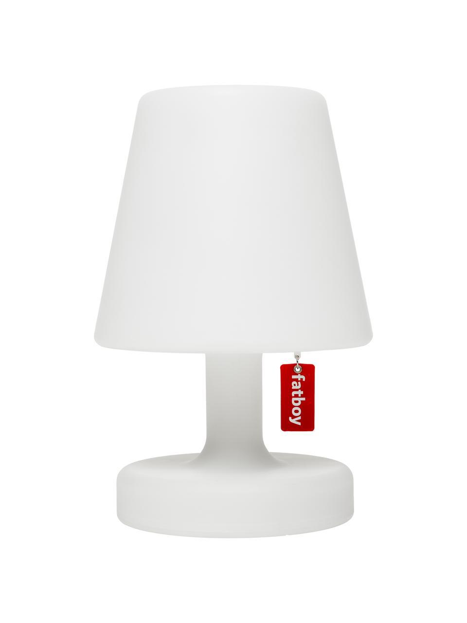 Mobile Dimmbare Außentischlampe Edison the Petit, Leuchte: Kunststoff, Weiß, Ø 16 x H 25 cm