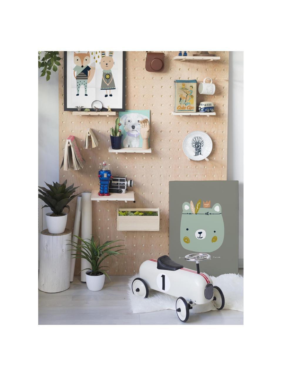 Leinwanddruck Really Cool, Bild: Digitaldruck auf Leinwand, Rahmen: Holz, lackiert, Grau, Grün, 50 x 70 cm