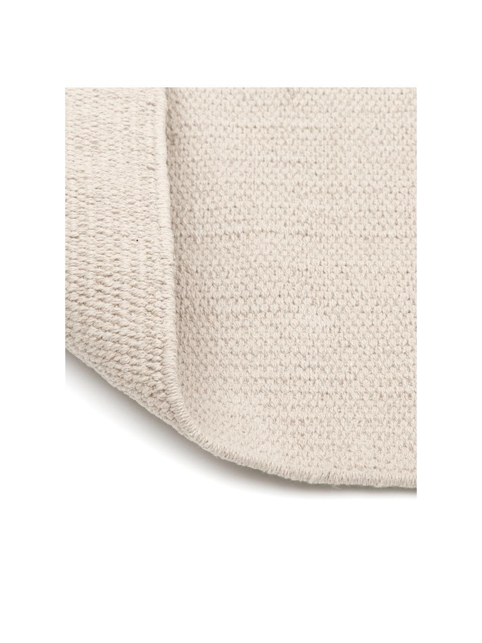 Dünner Baumwollteppich Agneta, handgewebt, 100% Baumwolle, Beige, B 200 x L 300 cm (Grösse L)