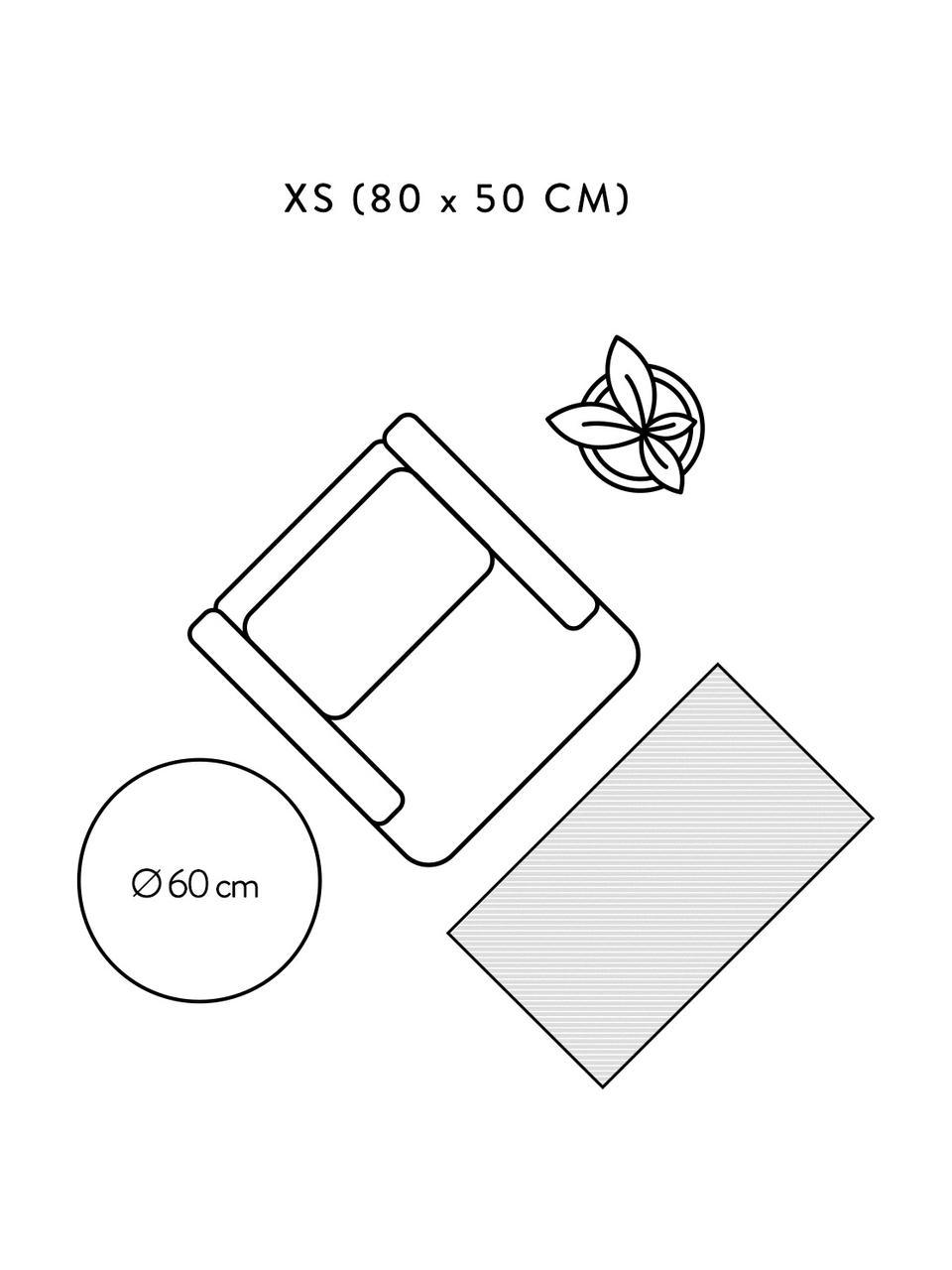 Dünner Baumwollteppich Agneta in Beige, handgewebt, 100% Baumwolle, Beige, B 200 x L 300 cm (Größe L)