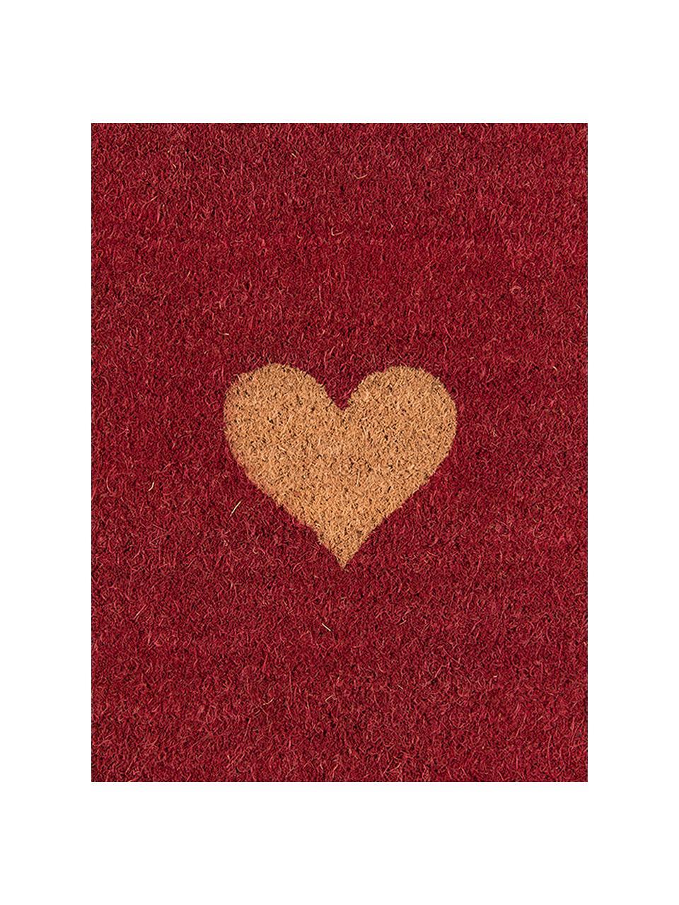 Paillasson Heart, Rouge, brun