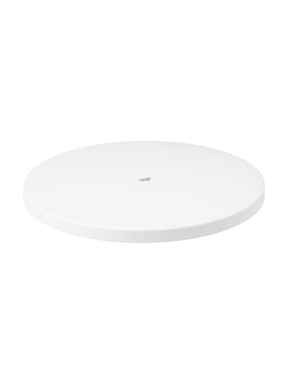 Vassoio decorativo rotondo in bianco Cerchio, Acciaio inossidabile, verniciato a polvere, Bianco opaco, Ø 40 x Alt. 2 cm
