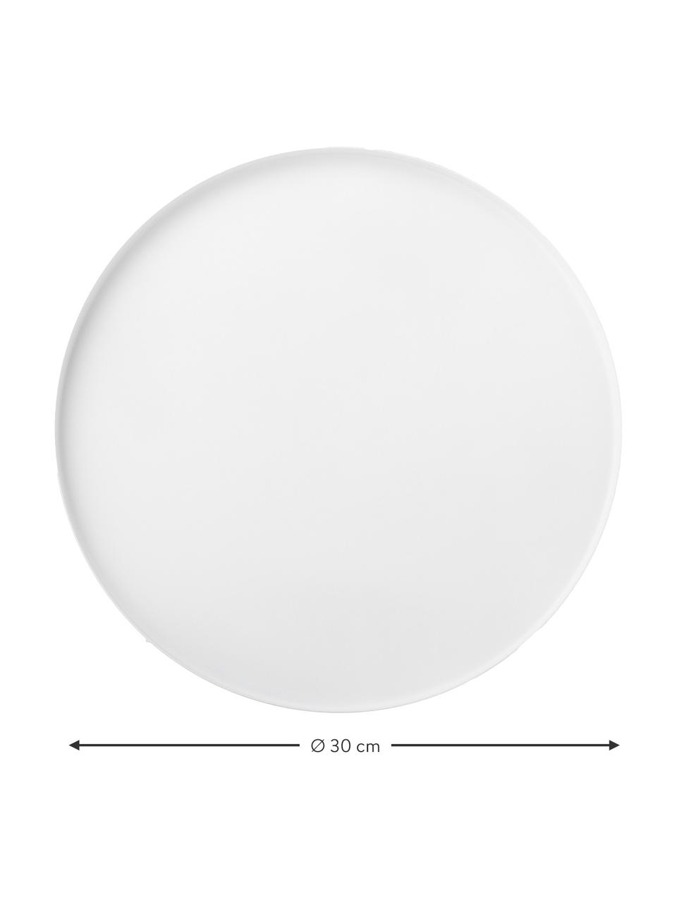 Okrągła taca dekoracyjna Circle, Stal szlachetna  malowana proszkowo, Biały, matowy, Ø 30 x W 2 cm