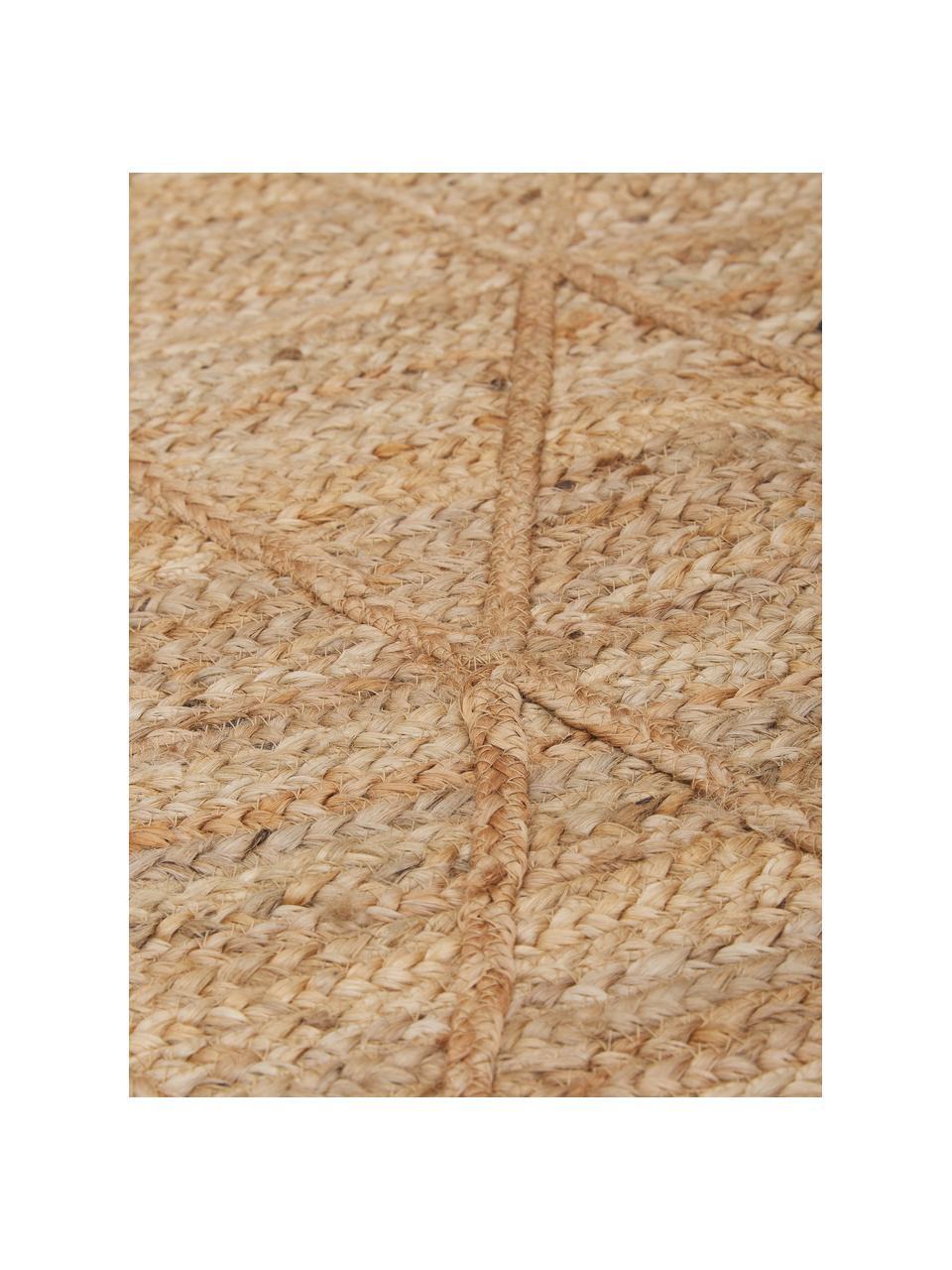 Handgefertigte Jute-Fußmatte Jason, 100% Jute, Beige, 50 x 80 cm