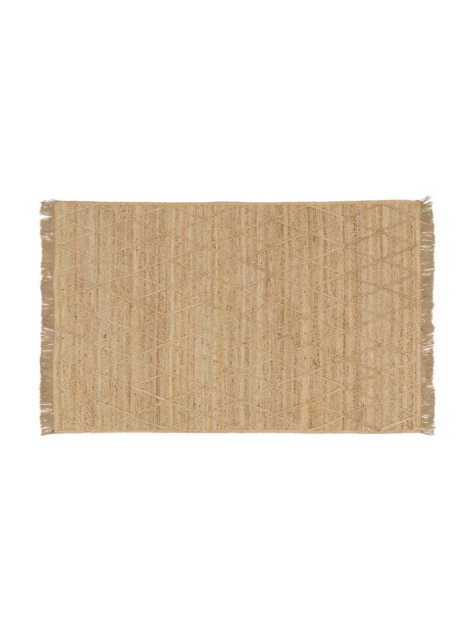 Ręcznie wykonana wycieraczka z juty Jason, 100% juta, Beżowy, S 50 x D 80 cm