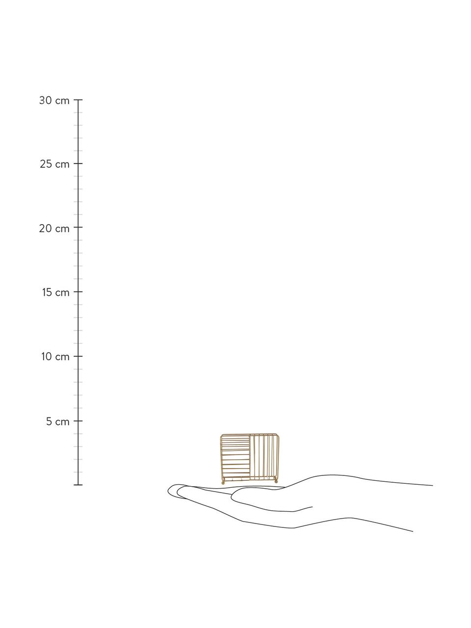 Serviettenhalter Magazin in Messing, Metall, beschichtet, Messing, 16 x 4 cm
