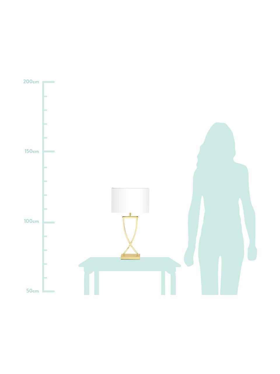 Klasická stolní lampa Vanessa, Zlatá