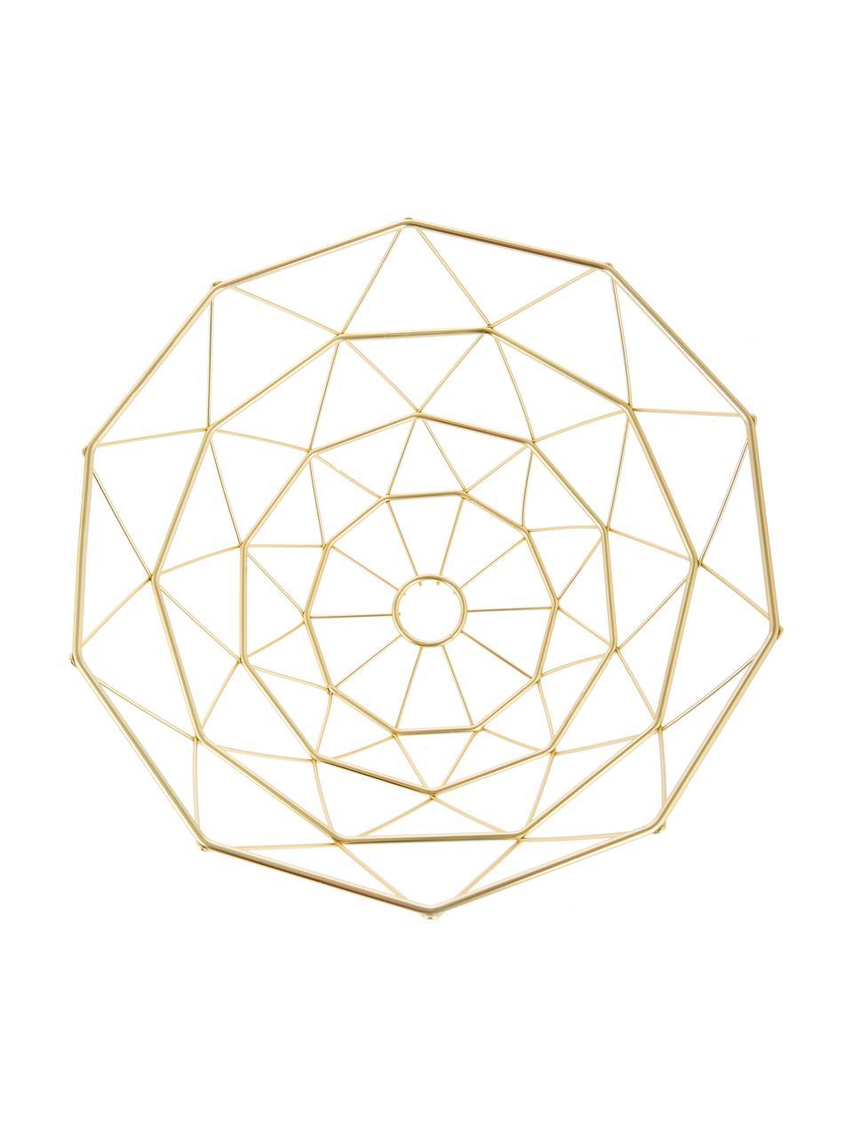 Cesto Diamond Cut, Metallo, Dorato opaco, Ø 30 x A 15 cm