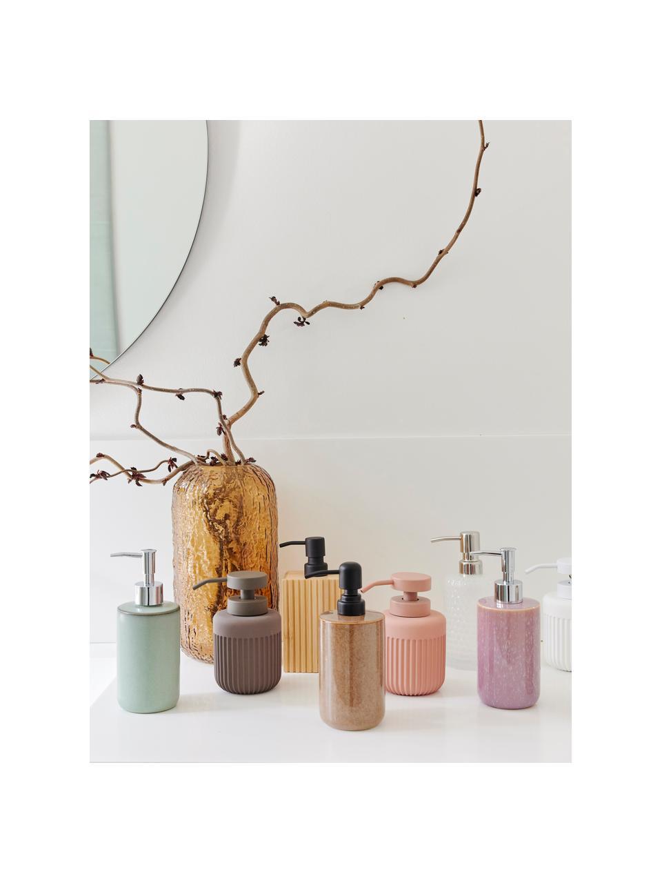 Keramik-Seifenspender Tin in Braun, Behälter: Keramik, Braun, Schwarz, Ø 8 x H 13 cm