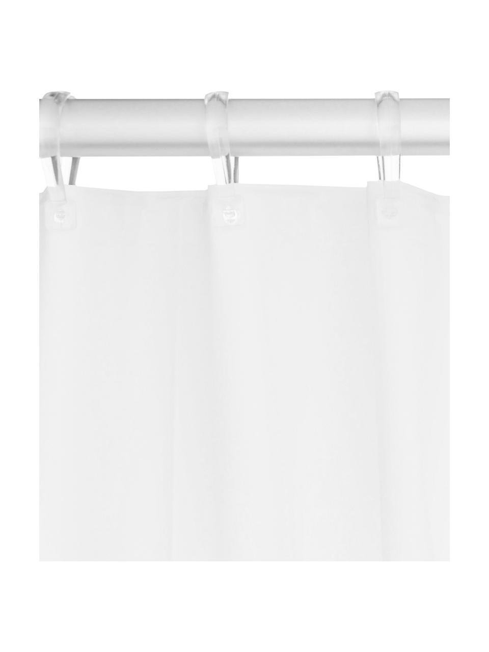 Rideau de douche blanc Granada, Blanc