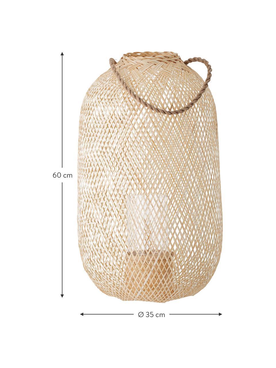 Laterne Musu aus Jute, Griff: Jute, Beige, Ø 35 x H 60 cm