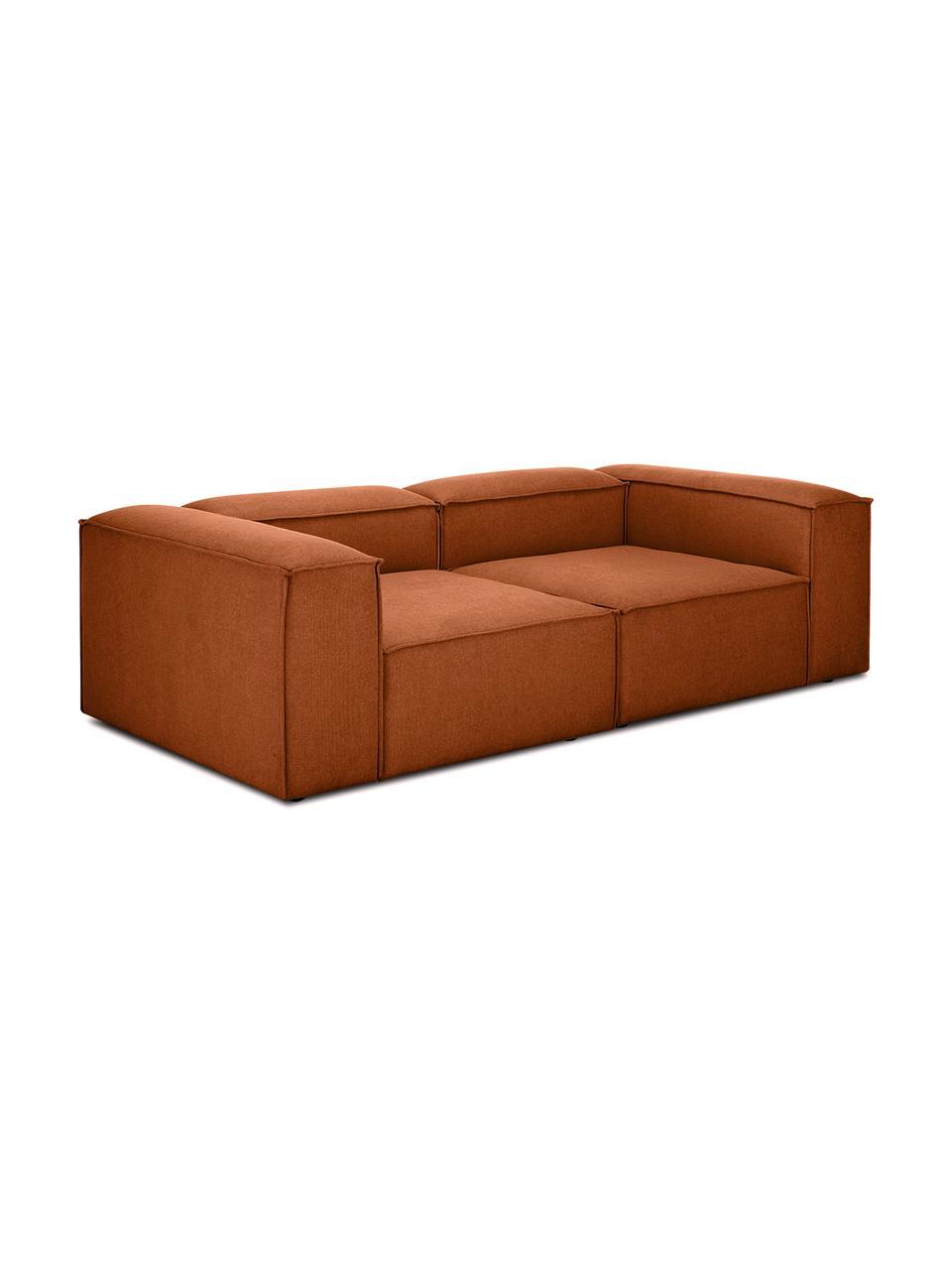Canapé modulable 3places terracotta Lennon, Tissu terre cuite