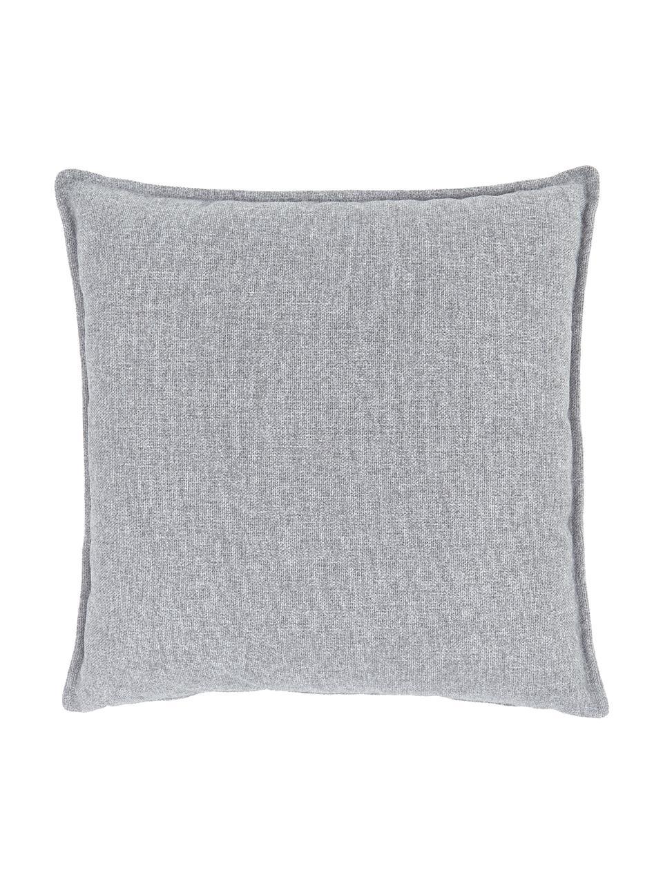 Cuscino arredo grigio chiaro Lennon, Rivestimento: 100% poliestere, Grigio chiaro, Larg. 60 x Lung. 60 cm