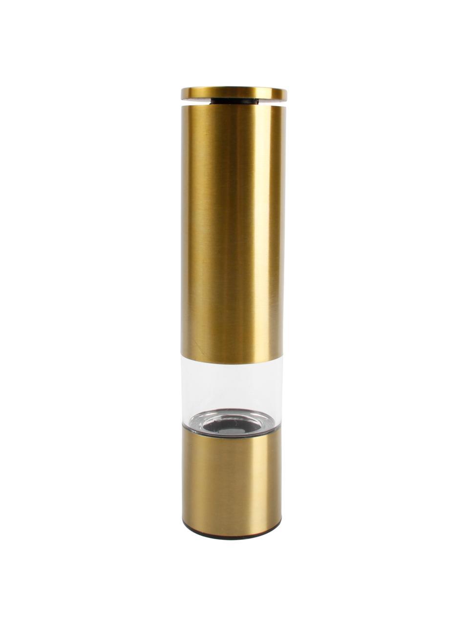 Młynek  Sheda, Korpus: szkło akrylowe, stal szla, Odcienie mosiądzu, Ø 5 x W 22 cm