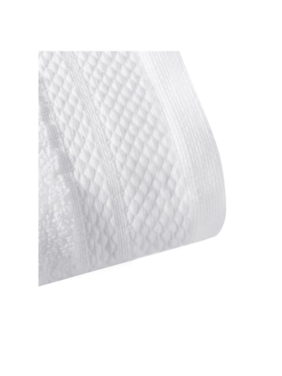 Asciugamano con bordo decorativo classico Premium, Bianco, Asciugamano