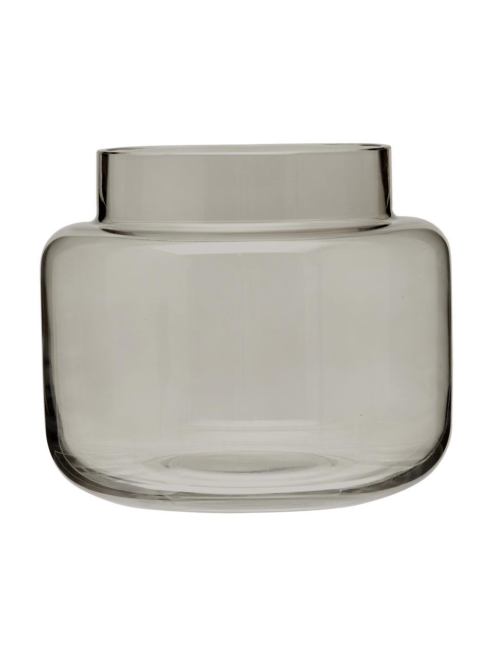 Glas-Vase Lasse, medium, Glas, Grau, transparent, Ø 16 x H 14 cm