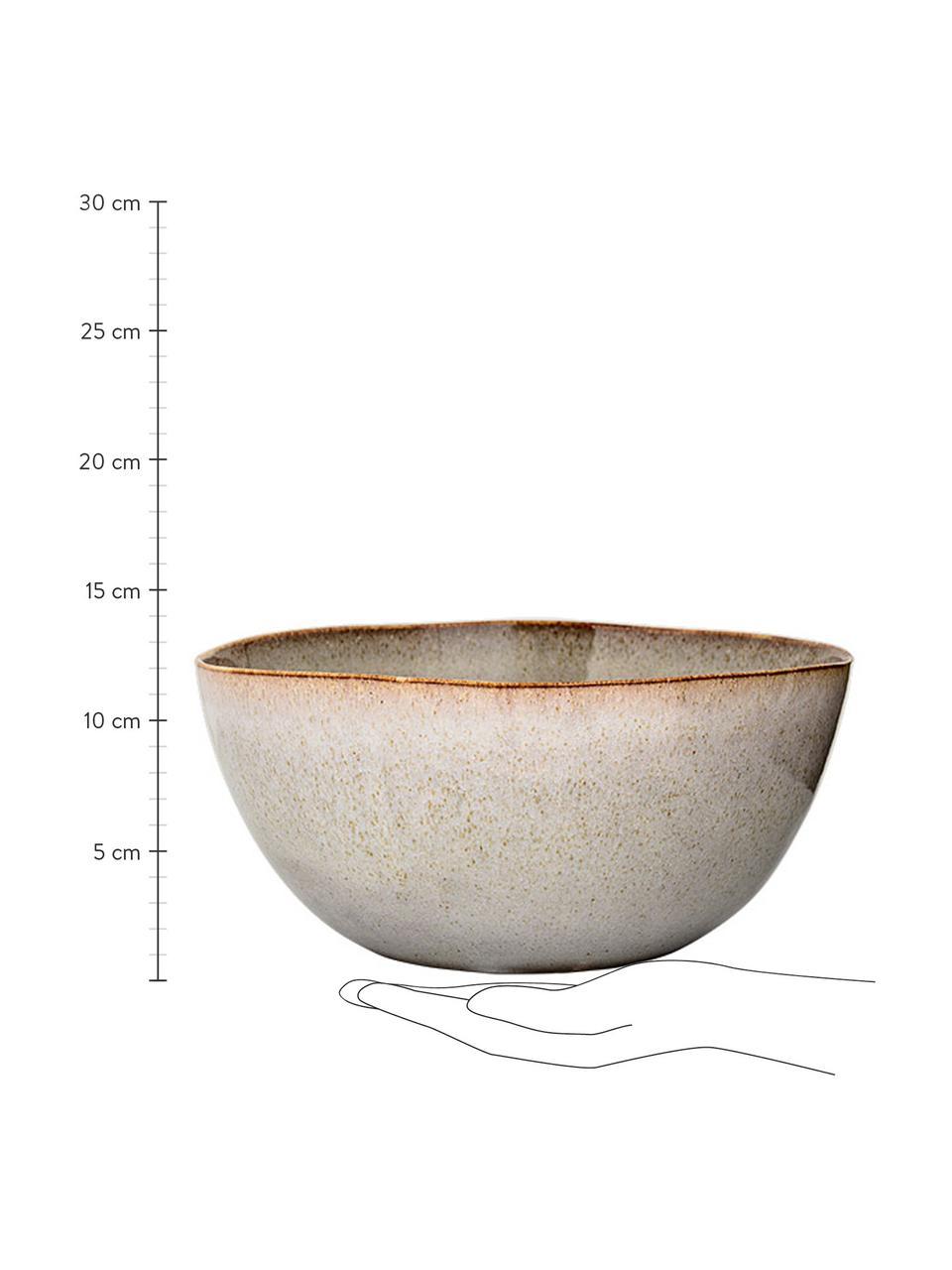 Ręcznie robiony półmisek Sandrine, Kamionka, Jasny szary, Ø 26 x 17 cm