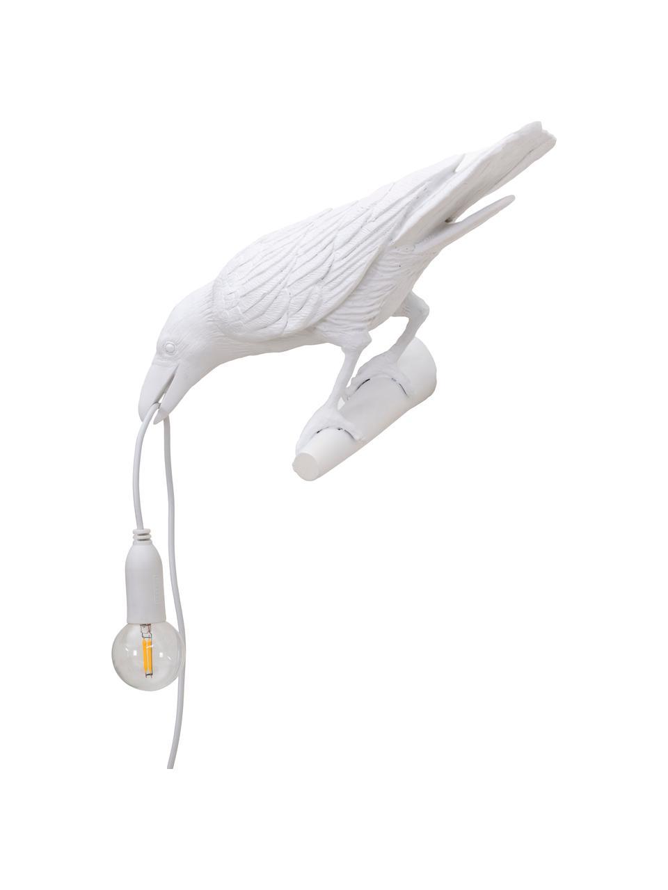 Applique design avec prise secteur Bird, Blanc