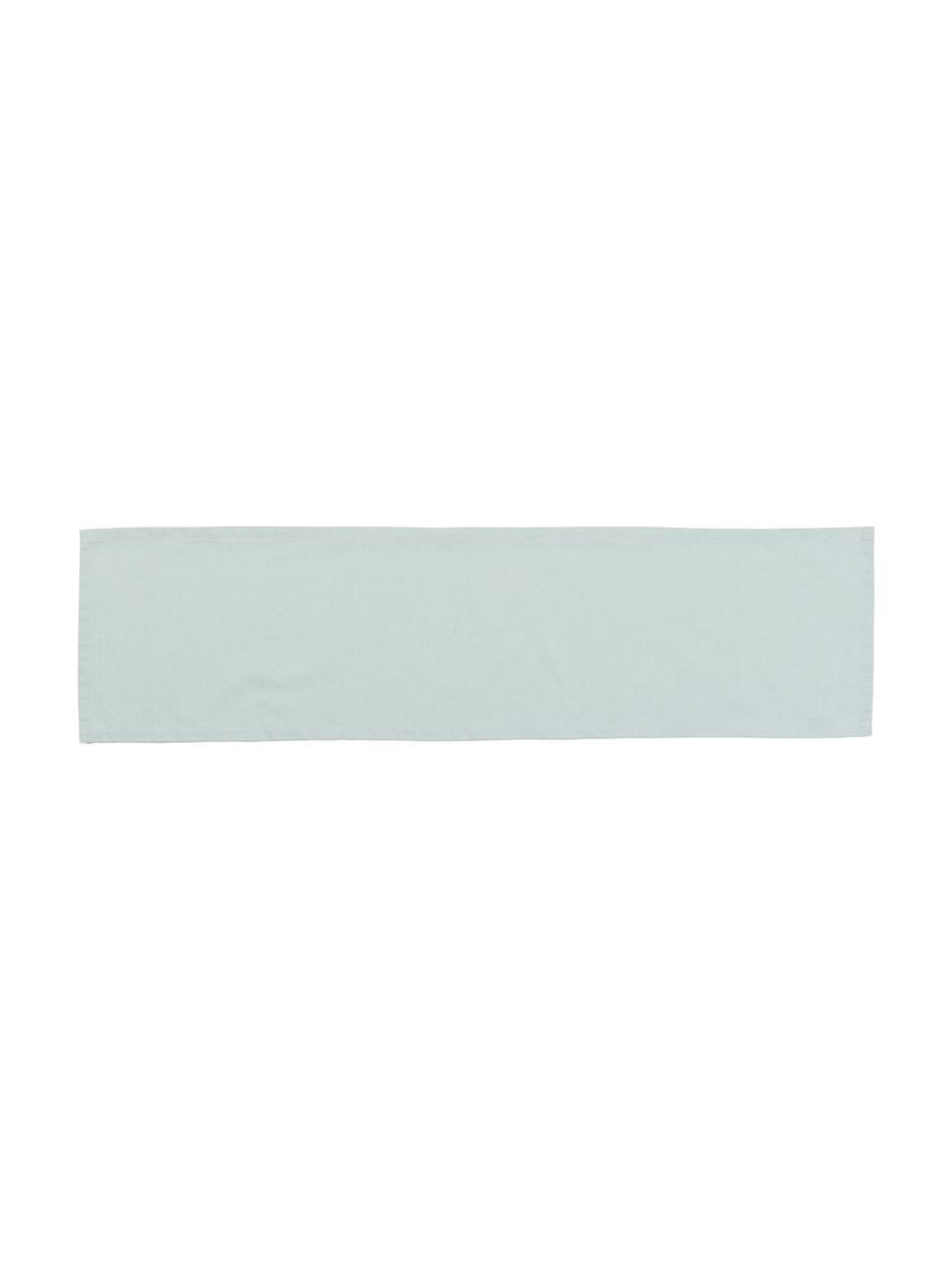 Tischläufer Riva aus Baumwollgemisch in Mintgrün, Webart: Jacquard, Mintgrün, 40 x 150 cm