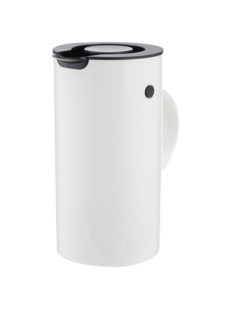 Wasserkocher EM77 in Weiß glänzend, Gehäuse: Metall, beschichtet, Weiß, Schwarz, 1,5 L