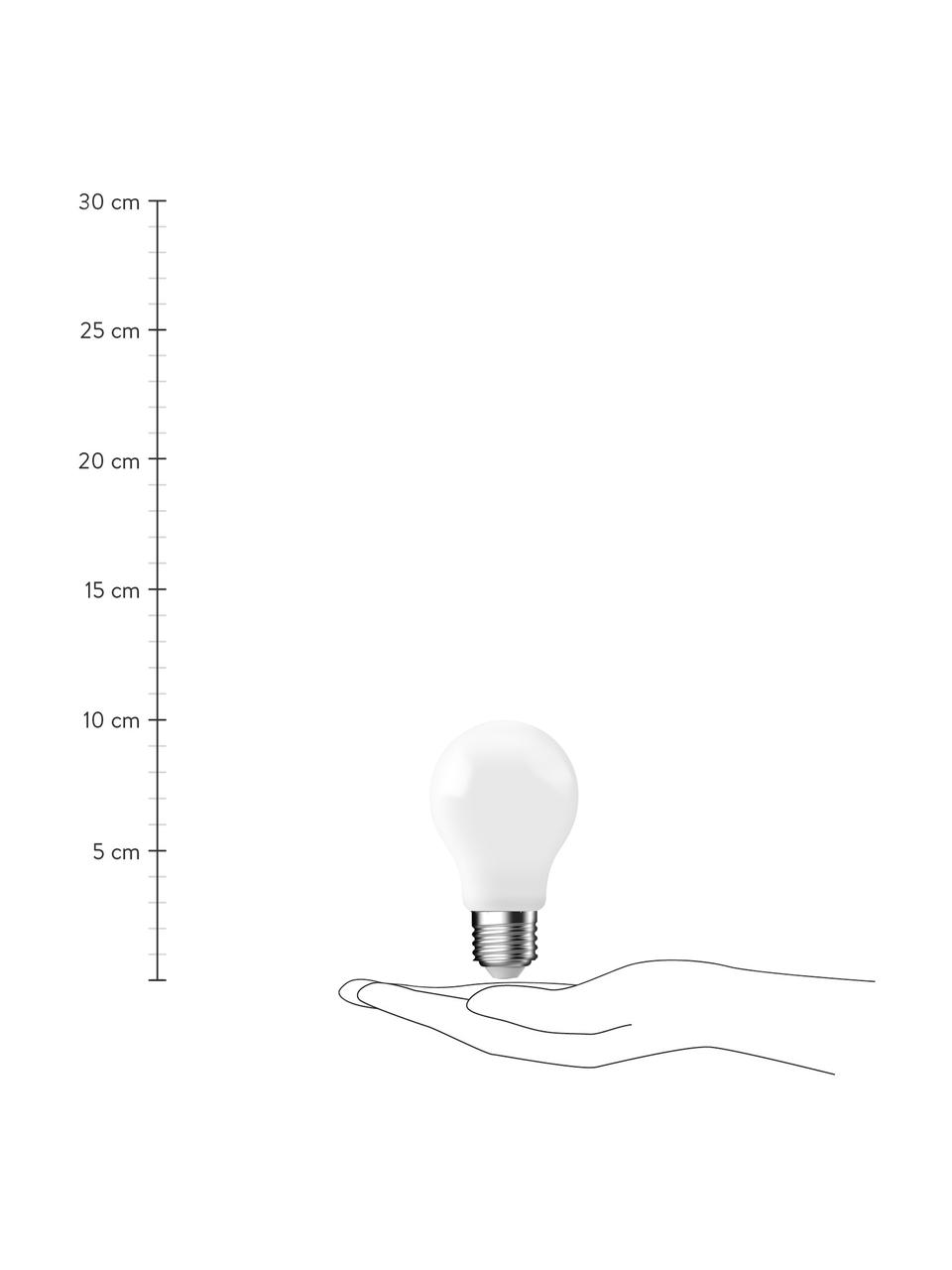 E27 Leuchtmittel, 8.6W, dimmbar, warmweiß, 3 Stück, Leuchtmittelschirm: Glas, Leuchtmittelfassung: Aluminium, Weiß, Ø 6 x H 10 cm