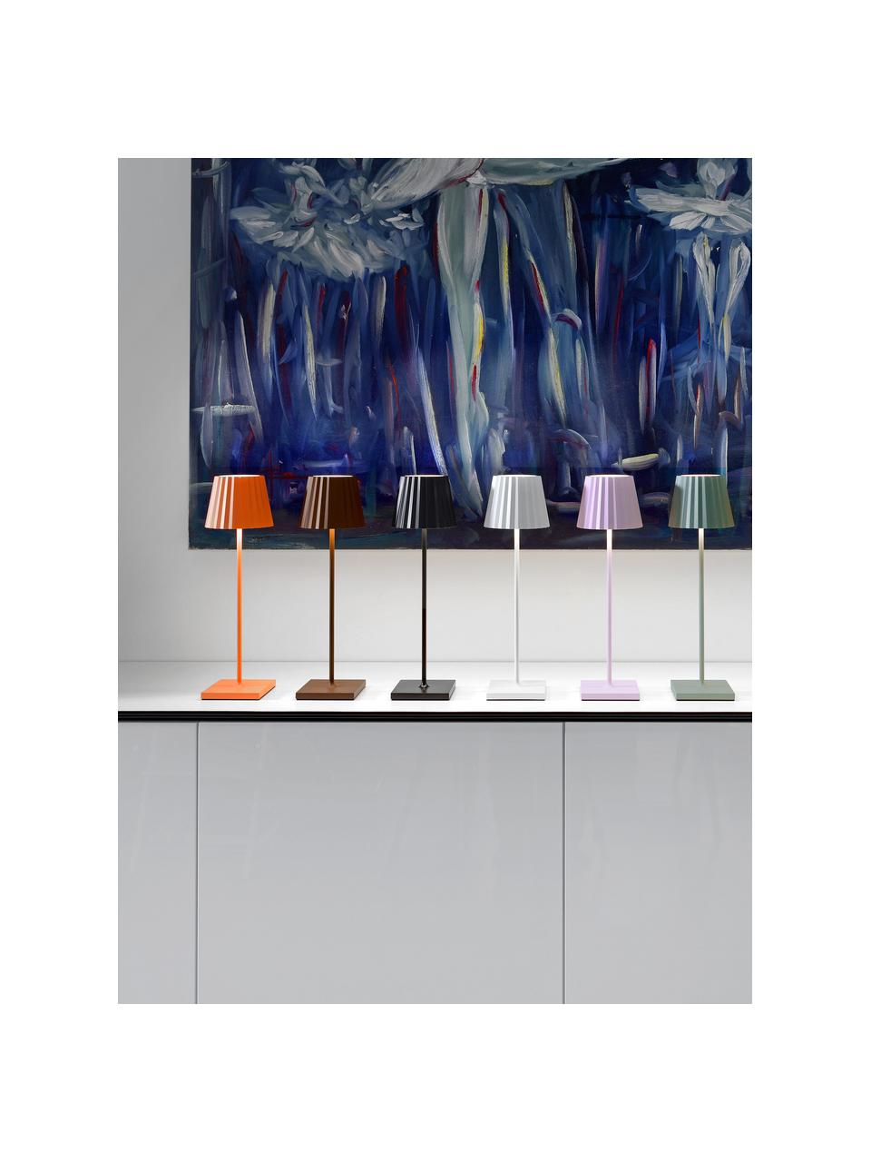 Lampada da tavolo dimmerabile da esterno Trellia, Paralume: alluminio verniciato, Base della lampada: alluminio verniciato, Arancione, Ø 15 x Alt. 38 cm