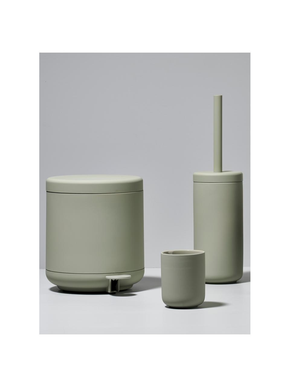 Pattumiera Ume, Plastica (ABS), Verde eucalipto, Ø 20 x Alt. 22 cm