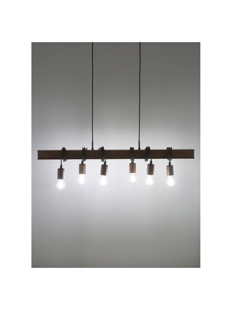 Suspension industrielle bois et acier Townshend, Brun