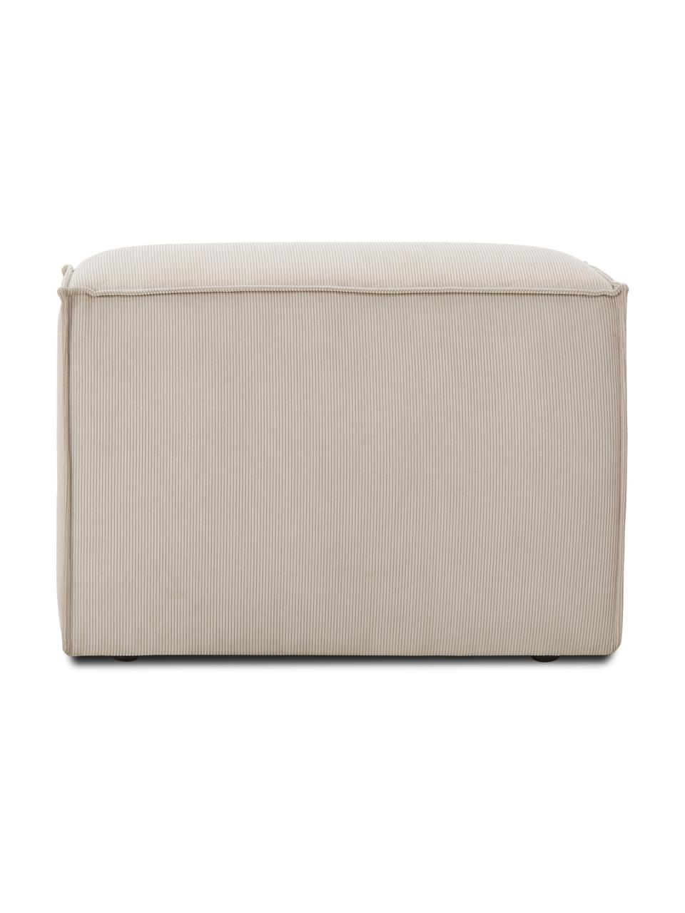 Middelste module Lennon in beige van corduroy, Bekleding: corduroy (92% polyester, , Frame: massief grenenhout, multi, Poten: kunststof De poten bevind, Corduroy beige, 89 x 119 cm