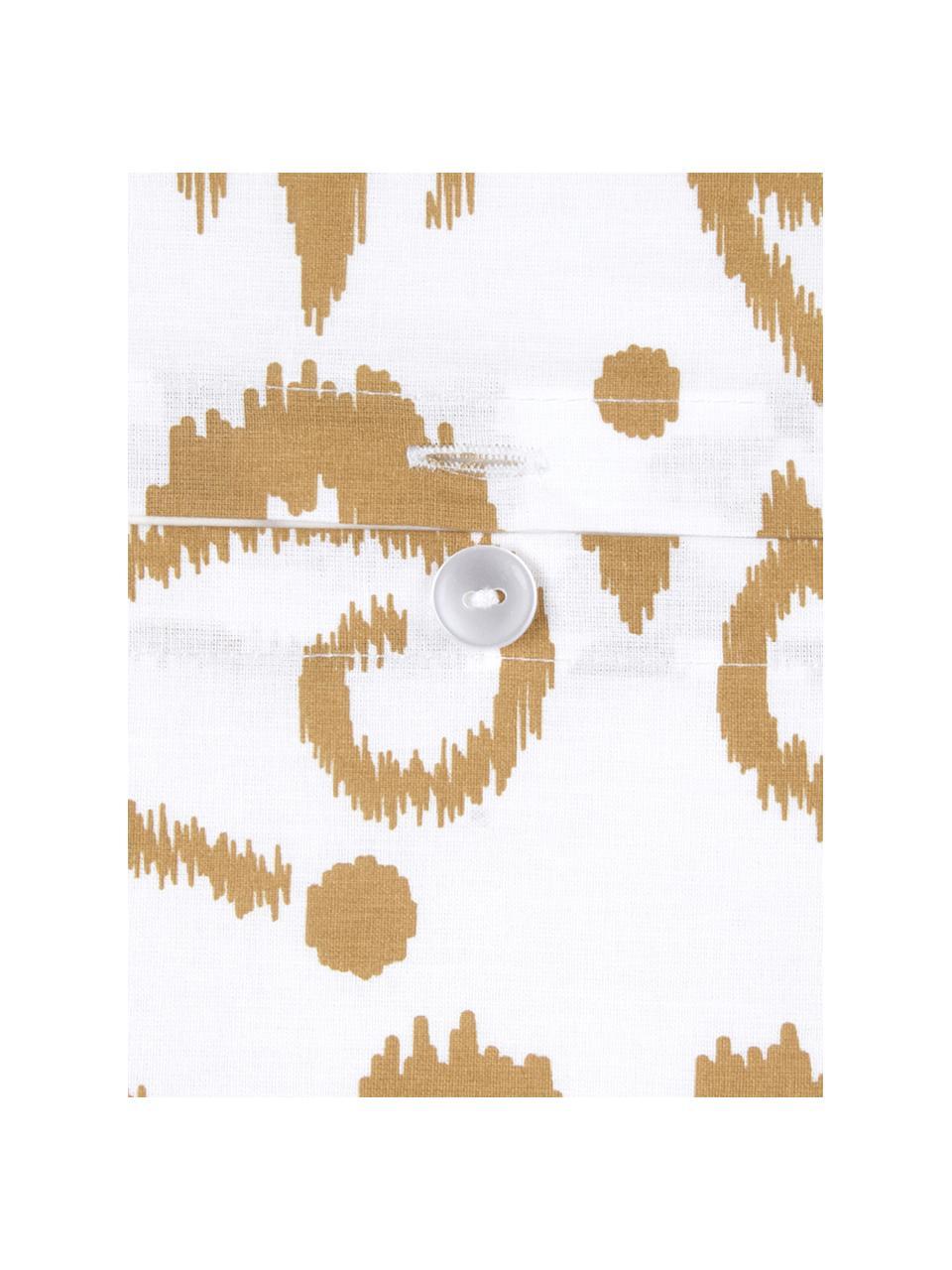 Baumwoll-Bettwäsche Ashley in Senfgelb/Weiß, Webart: Renforcé, Weiß, Senfgelb, 240 x 220 cm