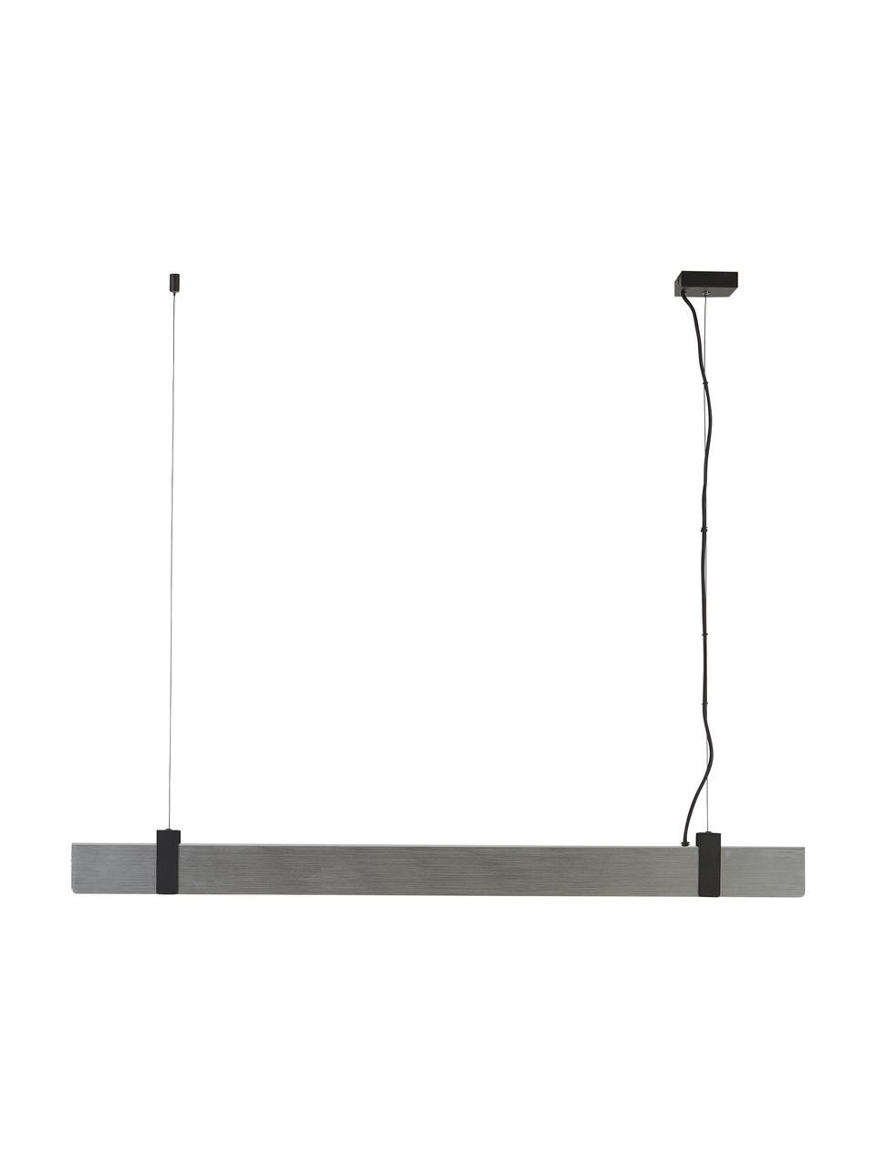 Große Dimmbare LED-Pendelleuchte Lilt, Lampenschirm: Metall, Dekor: Metall, beschichtet, Baldachin: Metall, pulverbeschichtet, Stahl, gebürstet, 115 x 10 cm