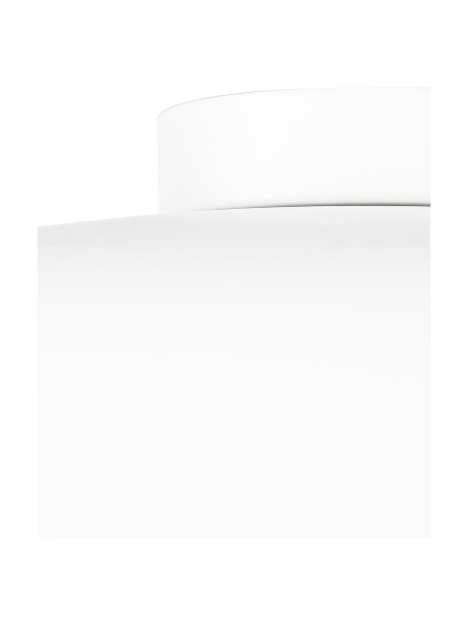 Deckenleuchte Ole aus Metall, Lampenschirm: Metall, pulverbeschichtet, Baldachin: Metall, pulverbeschichtet, Diffusorscheibe: Acryl, Weiß, matt, Ø 35 x H 18 cm