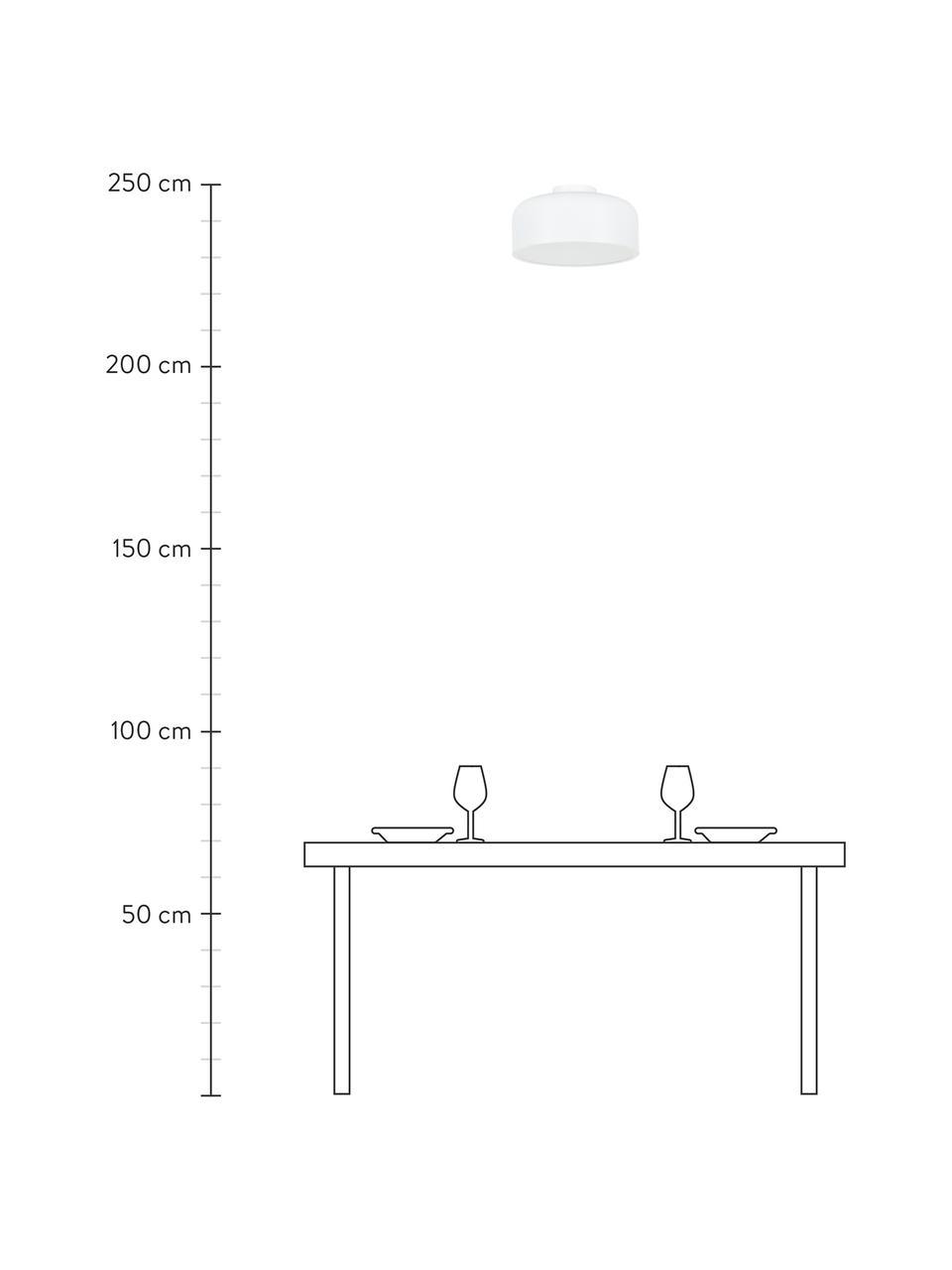 Lampa sufitowa z metalu Ole, Biały, matowy, Ø 35 x W 18 cm