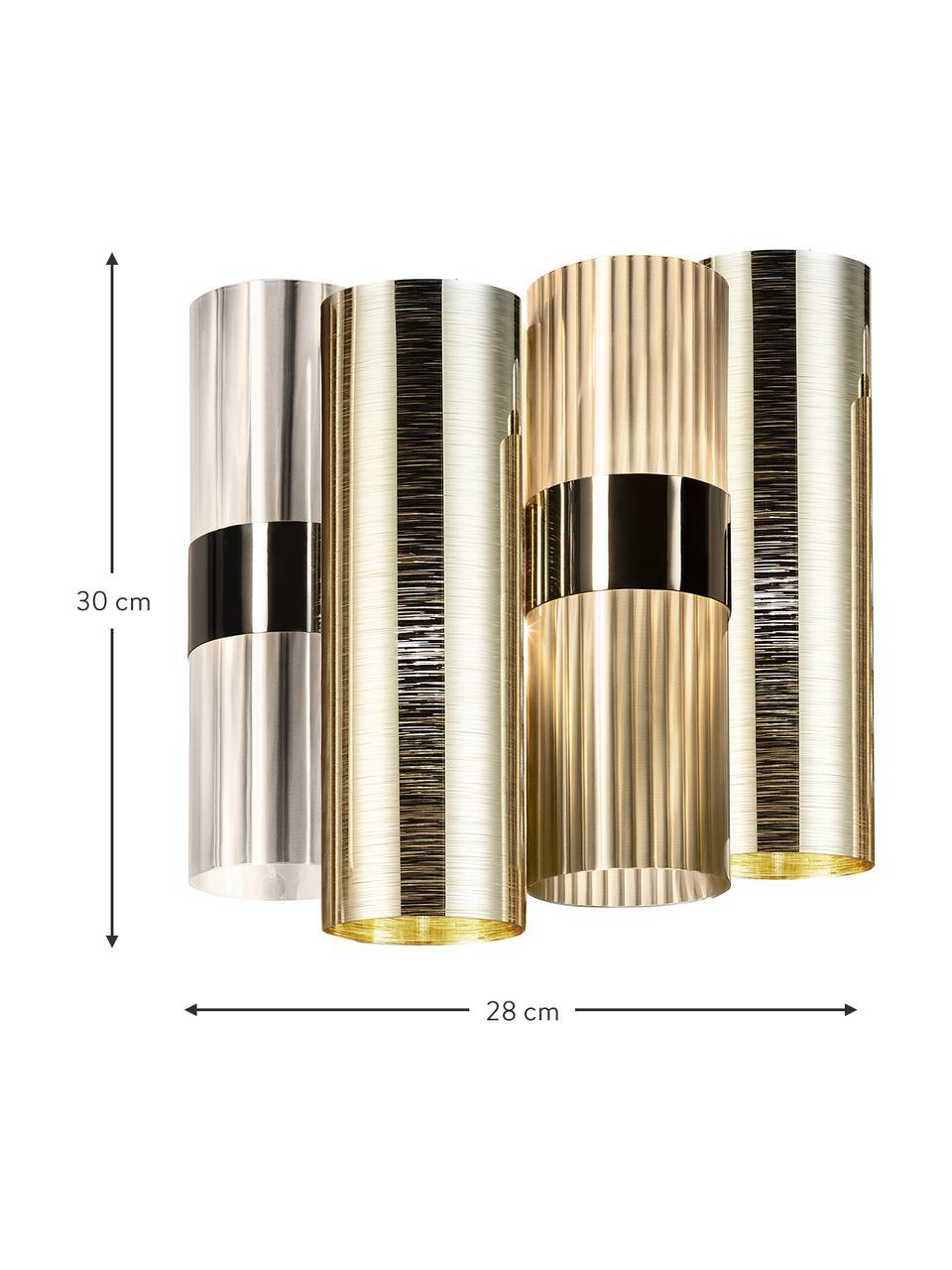 Wandlamp La Lollo van kunststof, Lampenkap: Lentiflex - Goldflex, Goudkleurig, 28 x 30 cm
