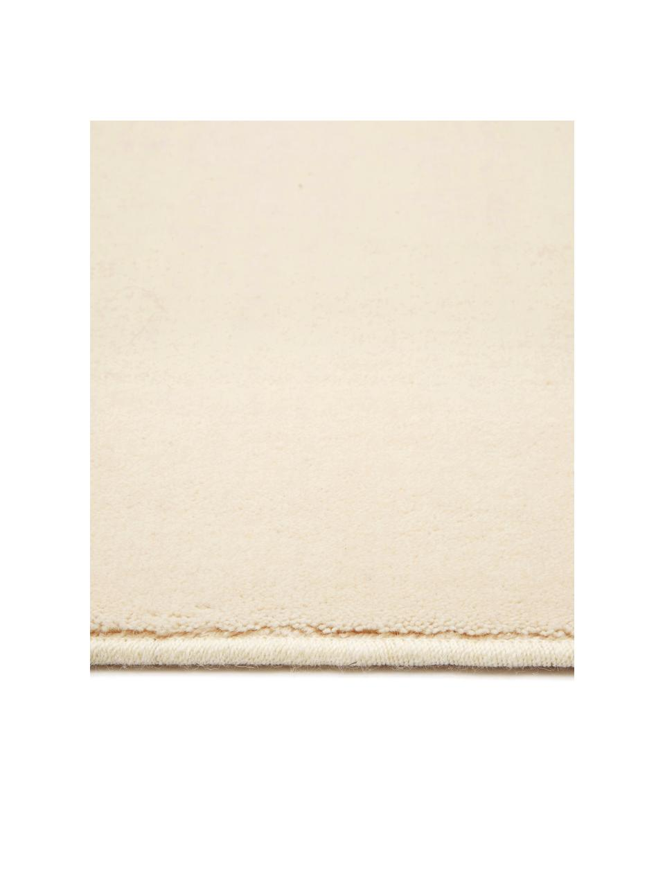 Wollen vloerkleed Ida in beige, Bovenzijde: 100% wol, Onderzijde: 60% jute, 40% polyester B, Beige, B 200 x L 300 cm (maat L)