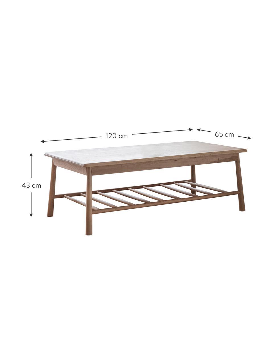 Stolik kawowy z drewna dębowego Wycombe, Lite drewno dębowe, płyta pilśniowa średniej gęstości (MDF) z fornirem z drewna dębowego, Drewno dębowe, S 120 x W 43 cm