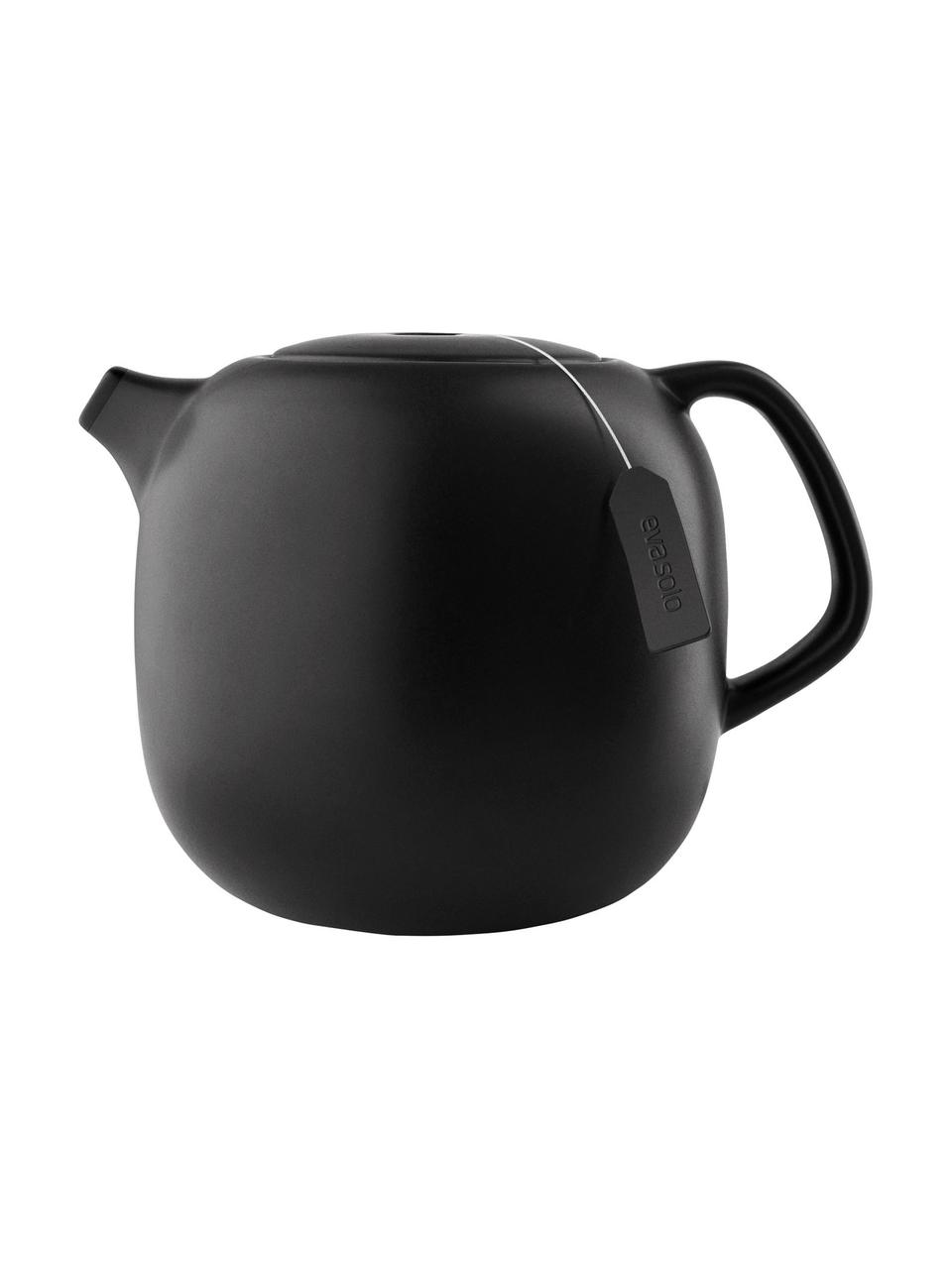 Teiera in gres nera Nordic Kitchen, 1 L, Nero opaco, 1 L