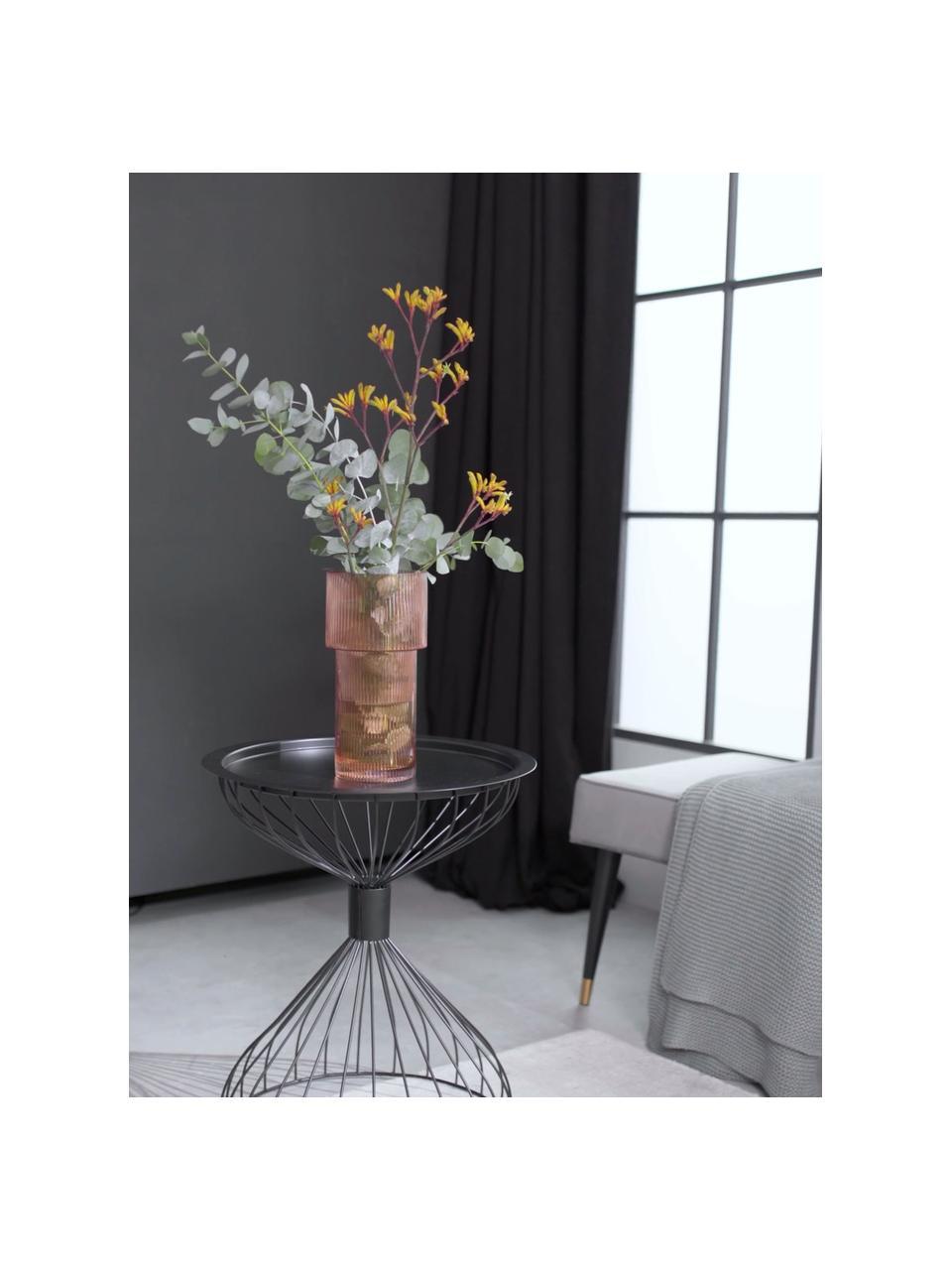 Glas-Vase Lija, Glas, Bernsteinfarben, transparent, Ø 14 x H 30 cm
