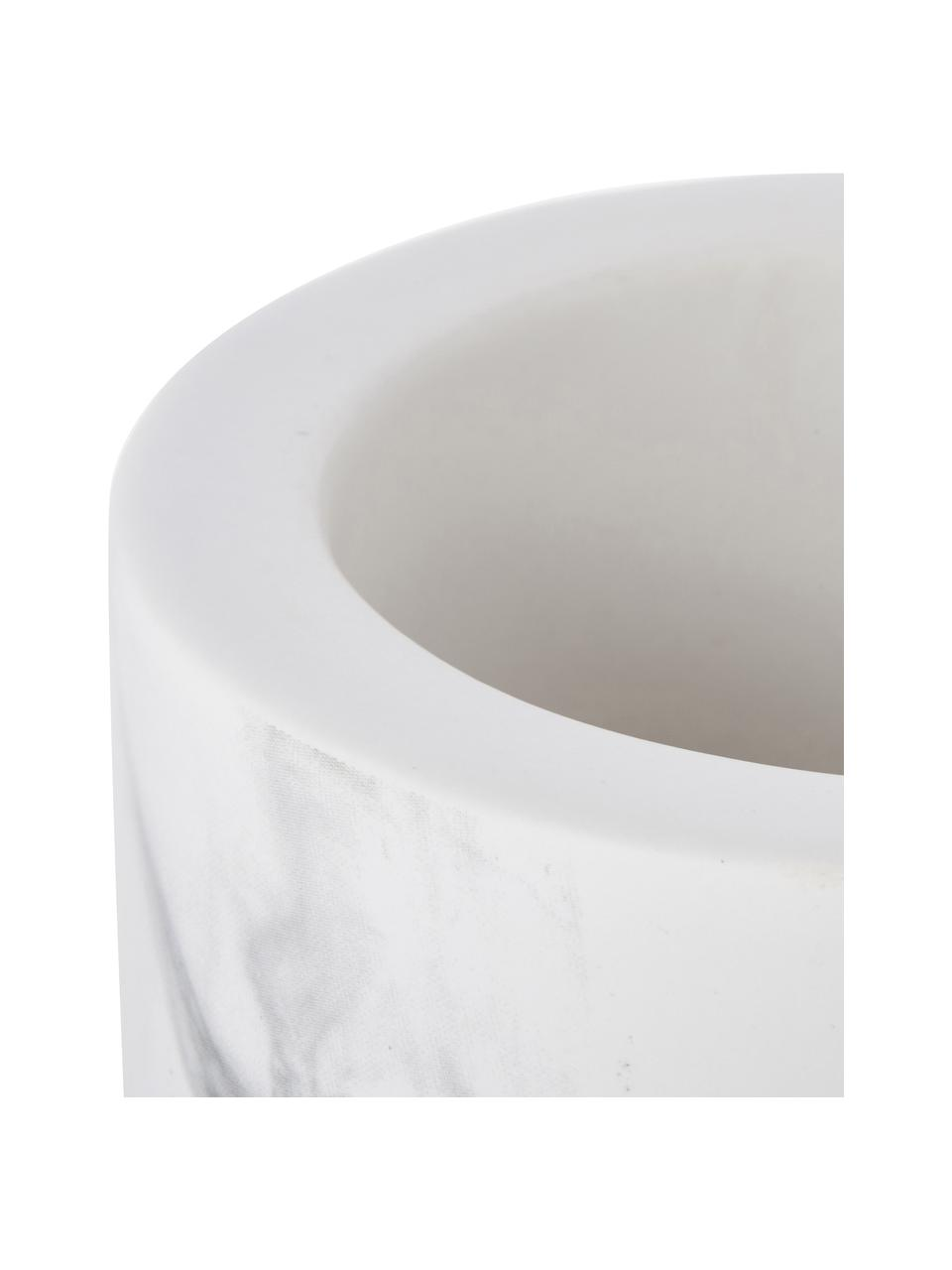 Toilettenbürste Daro mit Keramik-Behälter, Behälter: Keramik, Griff: Metall, beschichtet, Weiß, Schwarz, Ø 10 x H 43 cm