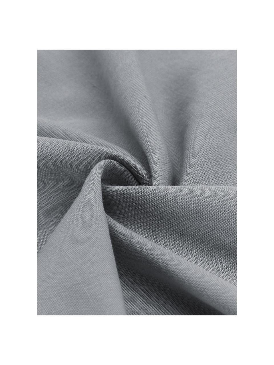 Pościel z lnu z efektem sprania Nature, Ciemny szary, 135 x 200 cm + 1 poduszka 80 x 80 cm