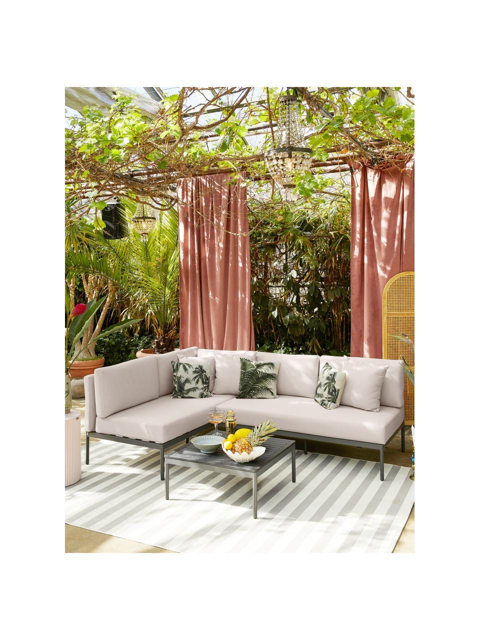 Salon de jardin en tissu beige Linden, 2élém., Gris, beige