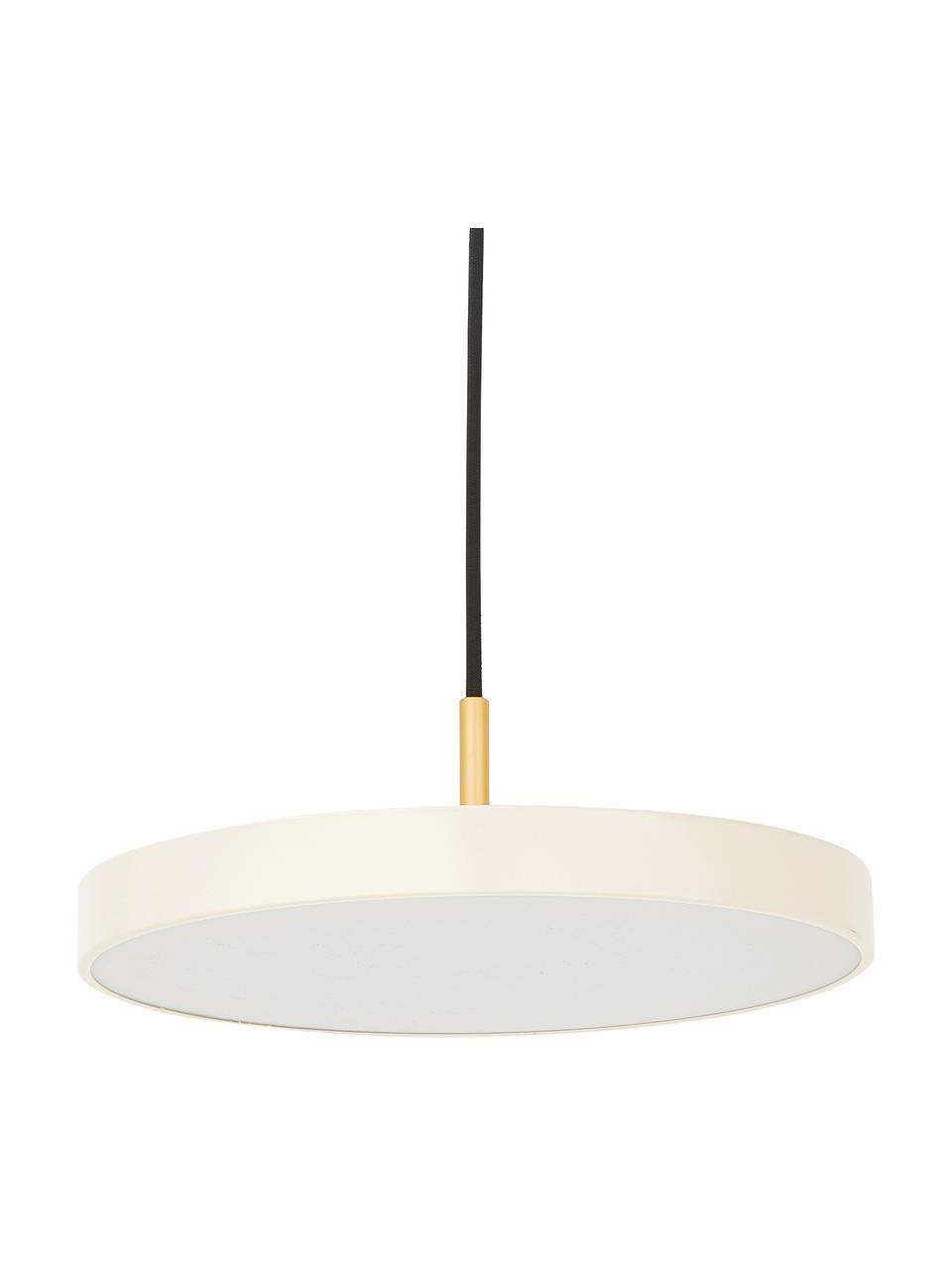 Lampa wisząca LED  Asteria, Perłowy biały, odcienie złotego, Ø 31 x W 14 cm