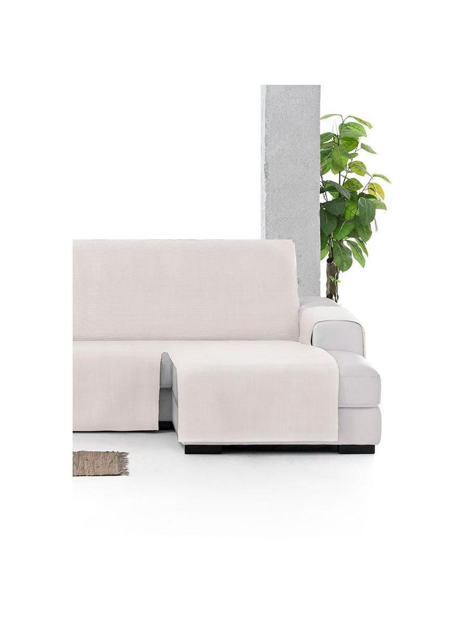 Copertura divano angolare Levante, 65% cotone, 35% poliestere, Color crema, Larg. 150 x Lung. 290 cm
