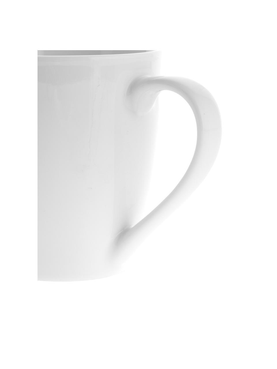 Tazza in porcellana bianca Delight 2 pz, Porcellana, Bianco, Ø 9 x Alt. 10 cm