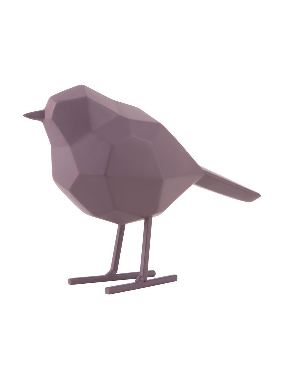 Decoratief object Bird, Kunststof, Lila, 14 x 17 cm