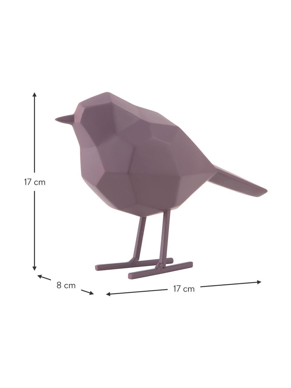 Deko-Objekt Bird, Kunststoff, Lila, 24 x 19 cm