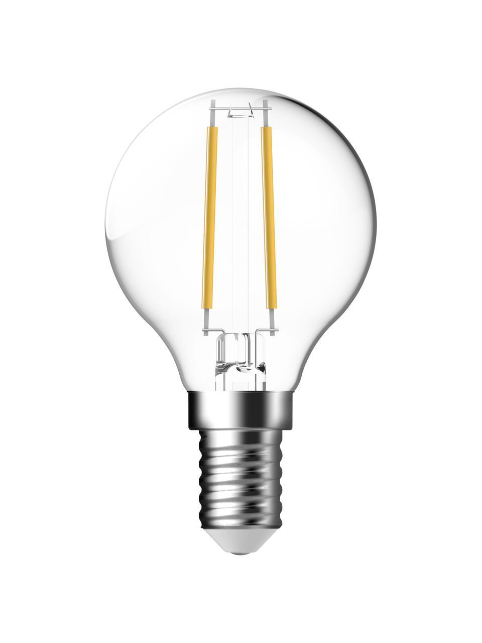 Lampadina E14, 2,5W, bianco caldo, 6 pz, Paralume: vetro, Base lampadina: alluminio, Trasparente, Ø 5 x Alt. 8 cm